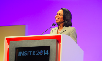 Condoleezza Rice Reviews Current Issues to Over 1,000 Professionals at Pershing's INSITE 2014